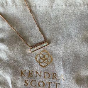 Kendra Scott Leanor Bar Pendant Necklace in Opal